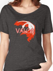 Stylized Team Valor Print Women's Relaxed Fit T-Shirt