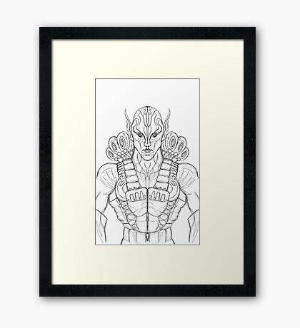 Raider Sketch Framed Print