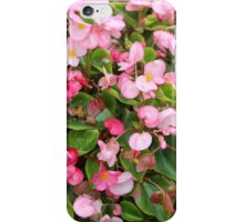 Pink Bed Blooms iPhone Case/Skin
