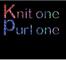 Knit one purl one Photographic Print