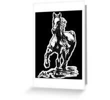 Horses run in her blood Greeting Card