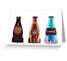 Fallout 4 Nuka Cola Trio Bigger Greeting Card