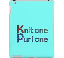 Knit one purl one iPad Case/Skin