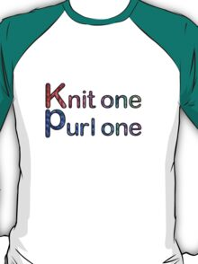 Knit one purl one T-Shirt
