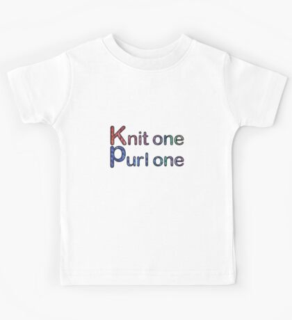 Knit one purl one Kids Tee