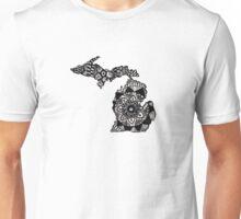 Michigan Mandala/Zentangle Unisex T-Shirt