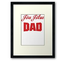 Jiu Jitsu Dad Bod T-Shirt Framed Print