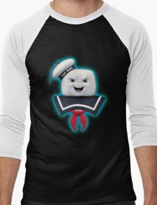 Ghostbusters - Stay Puft Marshmallow Man Bust Men's Baseball ¾ T-Shirt