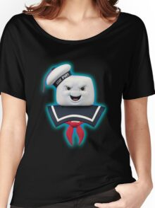 Ghostbusters - Stay Puft Marshmallow Man Bust Women's Relaxed Fit T-Shirt