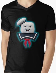 Ghostbusters - Stay Puft Marshmallow Man Bust Mens V-Neck T-Shirt