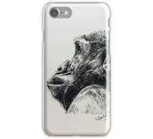 Ape versus a butterfly iPhone Case/Skin