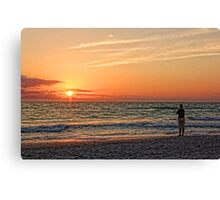 By The Beautiful Sea Canvas Print