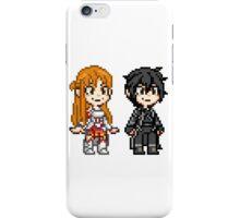 Sword Art Online - Asuna and Kirito - Pixel Art Characters iPhone Case/Skin