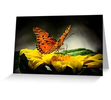Passion butterfly at night Greeting Card