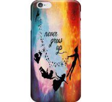 Nebula Never Grow Up iPhone Case/Skin
