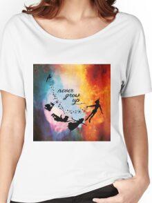 Nebula Never Grow Up Women's Relaxed Fit T-Shirt