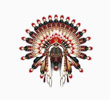 Native American War Bonnet in Red and Ivory Unisex T-Shirt