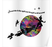 Second Star Peter Pan Poster