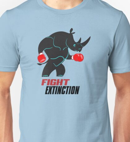 Fight Extinction Rhino Unisex T-Shirt