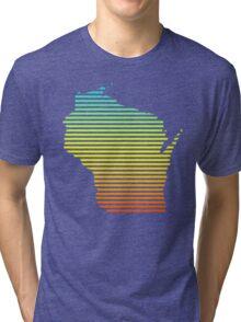 wisconsin chill fade Tri-blend T-Shirt