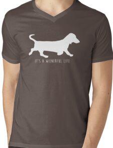 It's A Wienerful Life Mens V-Neck T-Shirt