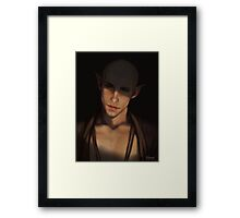 Sweetest tongue has sharpest tooth Framed Print