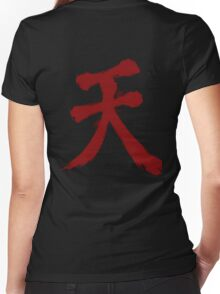 Raging Demon - Akuma Women's Fitted V-Neck T-Shirt