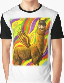 The Flying Llama Dude Graphic T-Shirt