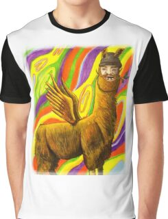 The Flying Llama Dude Graphic T-Shirt