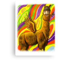 The Flying Llama Dude Canvas Print