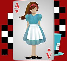 Alice 3D Flying Cards - Cut Out by Audra Lemke