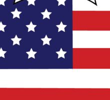 American Flag Mickey Head Sticker