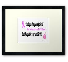 Breast Cancer Fighter Framed Print
