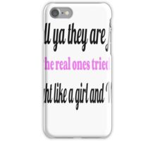 Breast Cancer Fighter iPhone Case/Skin