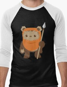 Cartoon Ewok Men's Baseball ¾ T-Shirt