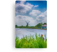 Fishing the Norfolk Broads  Canvas Print