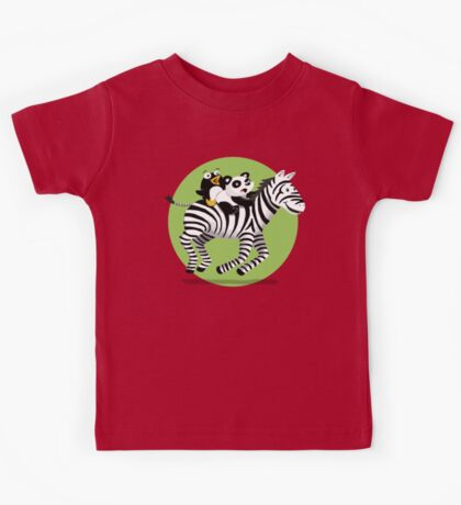 Black and White Buddies Kids Tee