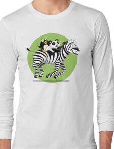 Black and White Buddies Long Sleeve T-Shirt