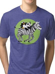 Black and White Buddies Tri-blend T-Shirt