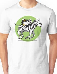 Black and White Buddies Unisex T-Shirt