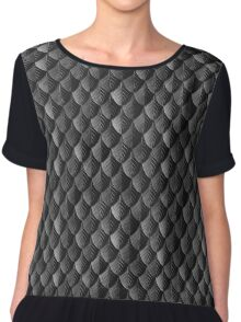 Feather Armor Scales - Black  Chiffon Top