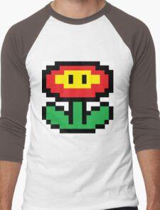 Mario Brothers Flower Men's Baseball ¾ T-Shirt