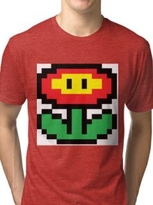 Mario Brothers Flower Tri-blend T-Shirt