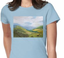 Misty morning Liverpool Range  NSW Womens Fitted T-Shirt