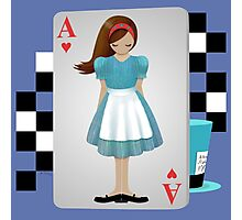 Alice 3D Flying Cards Photographic Print