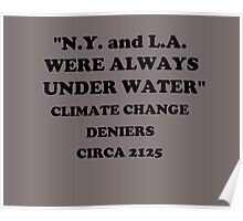 """N.Y. and L.A. Were Always Under Water""  Poster"
