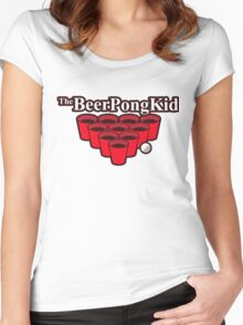 The beer pong kid Women's Fitted Scoop T-Shirt