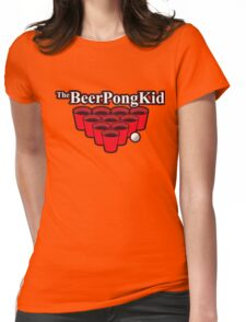 The beer pong kid Womens Fitted T-Shirt