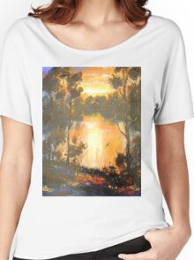 Sunset on Brisbane River Women's Relaxed Fit T-Shirt