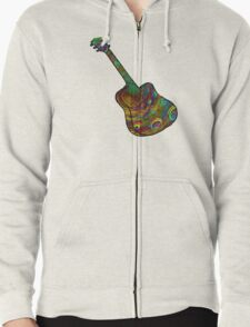 Psychedelic Six String Zipped Hoodie